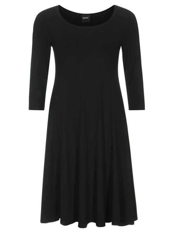 Splendid-004-dress-emma-3-4-mouw-zwart_1
