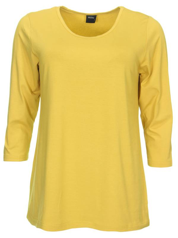 zazou-t-shirt-a-lijn3-4-mouw-032-curry-07_1