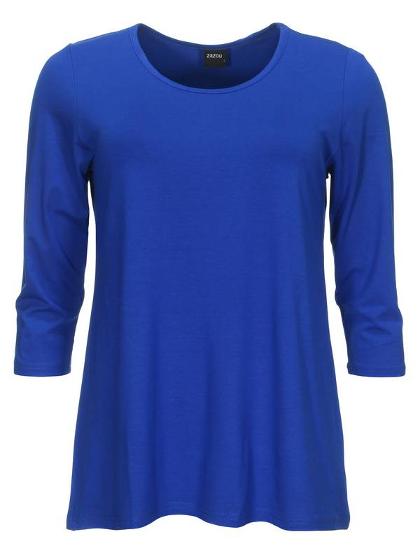 zazou-t-shirt-a-lijn3-4-mouw-240-royal-03_1